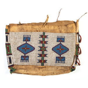 Sioux Beaded Buffalo Hide Possible Bag