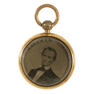 Lincoln and Hamlin 1860 Republican Campaign Ferrotype
