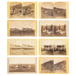 F. Jay Haynes Collection of Dakota Territory Stereoviews, Incl. Images of Deadwood and Crook City, Missouri River Views, Northern Pacific RR, and More