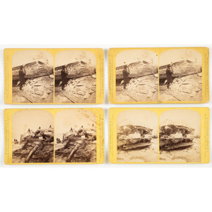 F. Jay Haynes, Rare Group of Stereoviews of the 1881 Mandan Flood, Dakota Territory