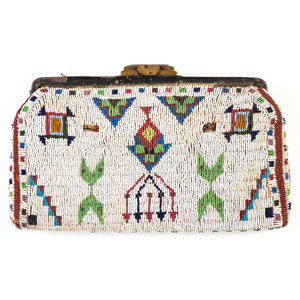 Sioux Beaded Hide Purse