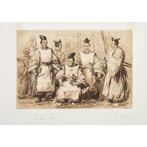 Alfred R. Waud 1860 Drawing of Ambassadors from the First Japanese Delegation to the US