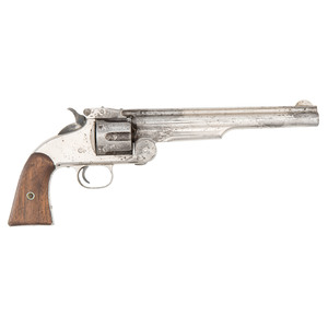 Rare Martially Marked First Model Smith & Wesson #3 American Revolver With Nickel Finish