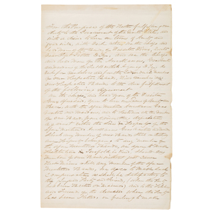 Original Manuscript Treaty Between the Sisseton Sioux and Arikara, Hidatsa, & Mandan, 1870