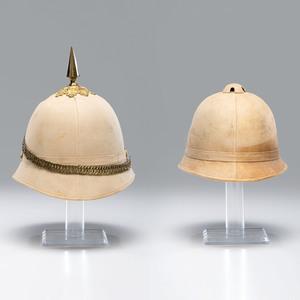 Lot Of Two Pattern 1880 Summer Helmets