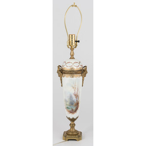 Sevres Porcelain Urn Lamp