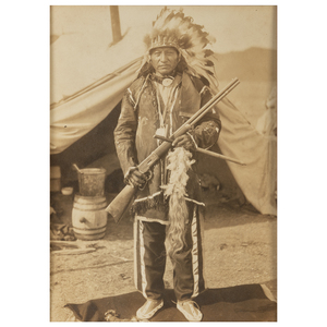 Oglala Sioux Chiefs and their Families, Group of Ten Photographs, Incl. Kills a Hundred