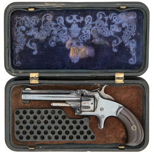 Smith & Wesson First Model, 3rd Issue Revolver in Gutta Percha Case
