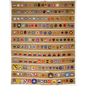 Lot of Two WWII Commemorative Patch Blankets