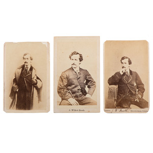 John Wilkes Booth, Three CDVs