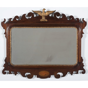 Chippendale Mirror with Gilt Eagle