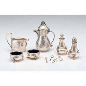 Turkish Silver Creamer and Other Sterling Tablewares