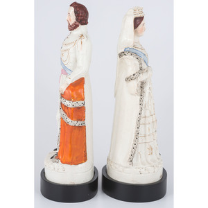 Staffordshire Prince of Wales and Queen of England Figures