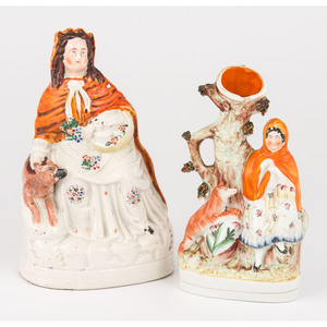 Staffordshire Little Red Riding Hood Figures