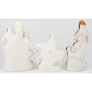 Staffordshire Figures and Spill Vase