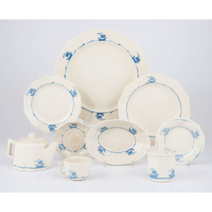 Rookwood Pottery Blue Galleon Dishes