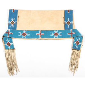 Sioux Beaded Hide Saddle Bag
