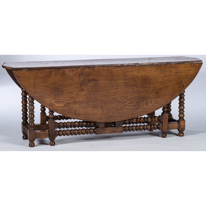 A William and Mary-style Gate-Leg Table in Oak
