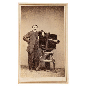 CDV Featuring William S. Soule with Camera
