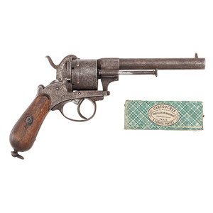 LeFeuchenx Revolver and Box of Cartridges