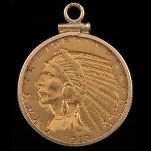 Gold $5 Coin Pendant