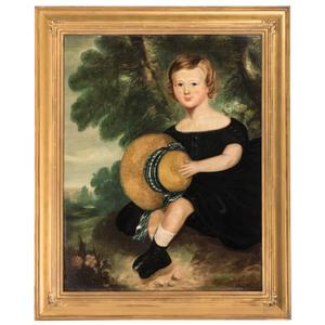 An American Folk Art Portrait, 19th Century