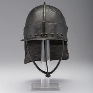 English Civil War Harquebus Three-Barred Helmet