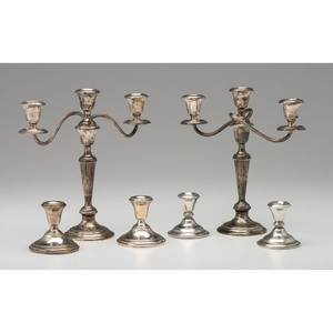 Gorham & Hamilton Weighted Sterling Candlesticks