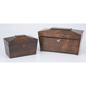 English Mahogany Tea Caddies