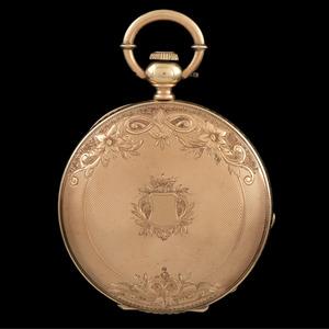 James Perret 14k Gold Pocketwatch