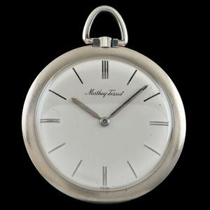 Mathey-Tissot 18k White Gold Pocketwatch