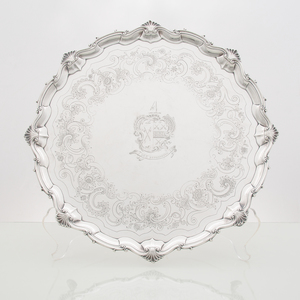George III Sterling Armorial Salver