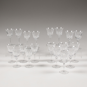 Saint-Louis Crystal Water and Wine Goblets, Provence