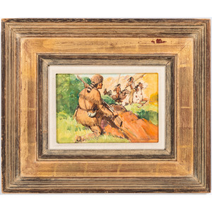 J. Clinton Shepherd (American, 1888-1975) Oil and Pencil on Board
