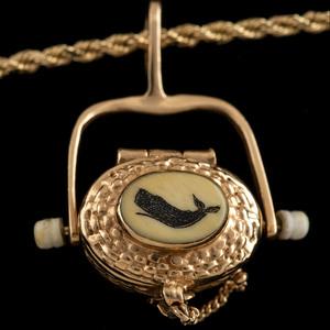 14k Gold Nantucket Bag Pendant Necklace