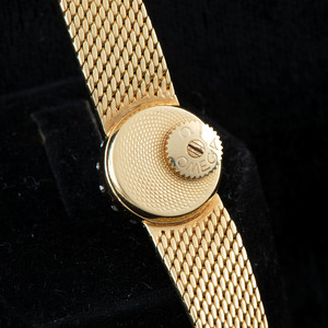 Omega 18k Gold Diamond Wristwatch