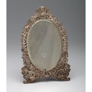 Victorian Silver Mounted Mirror