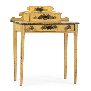 A Maine Classical Paint-Decorated Pine Dressing Table