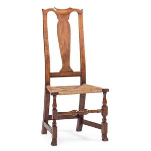 A Queen Anne Cherrywood Side Chair