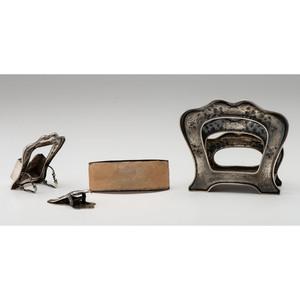 Gorham Art Nouveau Sterling-Mounted Desk Set