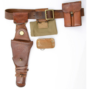 Pattern 1912 Cavalry Swivel Holster With Belt And Magazine Pouch