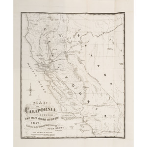 Information Concerning The Terminus Of The Railroad System Of The Pacific Coast with Two Grafton Tyler Brown Maps
