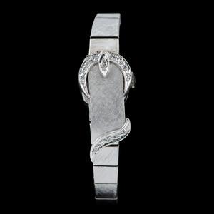 14k White Gold Surprise Watch