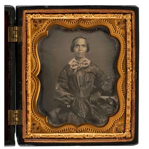 Sixth Plate Daguerreotype of Elegant African American Lady