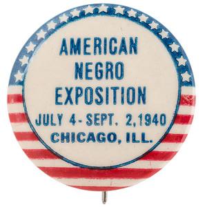 American Negro Exposition, 1940 Pinback