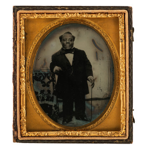 Sixth Plate Ambrotype of Japanese Tommy