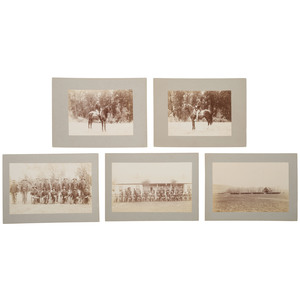 Buffalo Soldiers 25th Infantry Regiment Silver Gelatin Photographs, ca 1892
