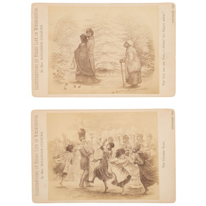 Cabinet Cards Illustrations of Negro Life in Washington by Mrs. Robinson Colburn