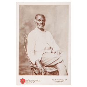 Cabinet Card of Alfred Jackson, Former Slave to President Jackson, ca 1888
