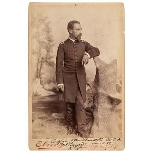 Chaplain Allen Allensworth Cabinet Card, 1889